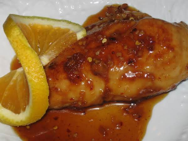 Chicken Breast With A Spicy Orange Glaze Recipe