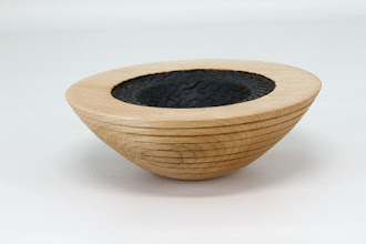 "Photo: Tim Aley [4 1/2"" x 1 1/2""] bowl [maple, acrylic paint, pyrography]"