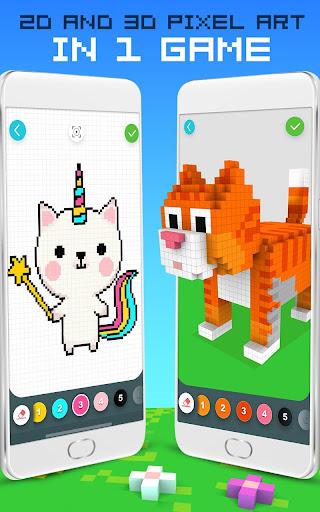 RAINBOW Color by Number - 2D & 3D Pixel Art screenshots 21