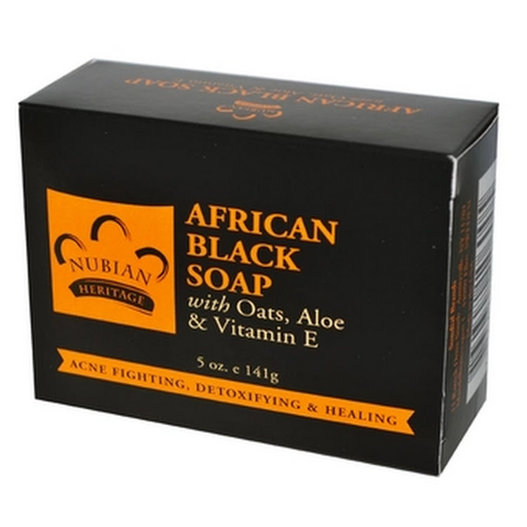 Nubian Heritage, African Black Soap Bar anti acne body soap, 5 oz (141 g)