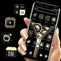 Golden Black Brown Technology Theme ⚙️ icon