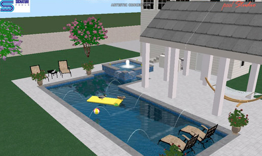 Photo: 3D Renderings, Signature Pools