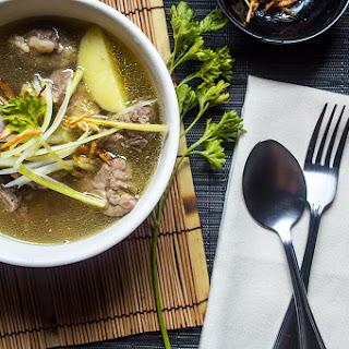 Pork Ribs Celery Soup.