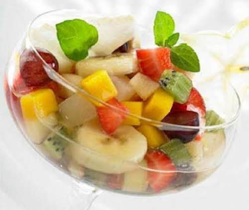 "Margarita Fruit Appetizer ""Serve in margarita glasses with a salt-sugar mixture around..."
