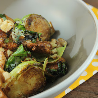 Balsamic Chicken and Brussels Sprouts.