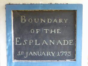 Photo: Boundary of Esplanade Madras- Monument present outside  Dare house building - Parry's corner