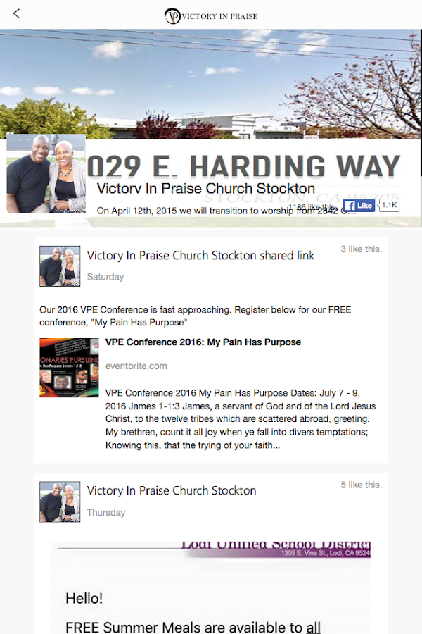 Victory In Praise Church- screenshot