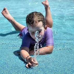 Water play by Angelica Glen - Babies & Children Children Candids ( water, girl, pool, fountain, , KidsOfSummer )