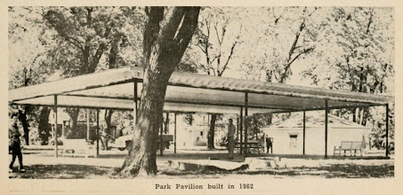 Photo: Pavilion in the Chatsworth City Park built in 1962. I believe the workers to be Jerry Birkenbiel in the forground and Cliff Runyon on the shovel.