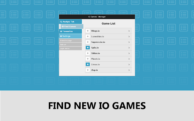 io Games Manager