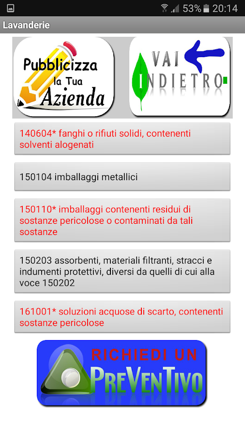 Ambiente e Rifiuti- screenshot