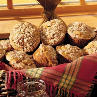 Pumpkin-Apple Muffins with Streusel Topping.