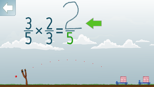 Multiplying Fractions app for Android screenshot
