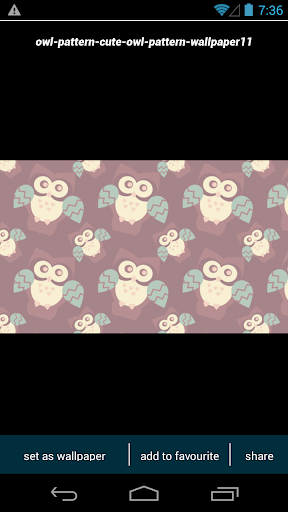 Cute Owl Pattern Wallpapers