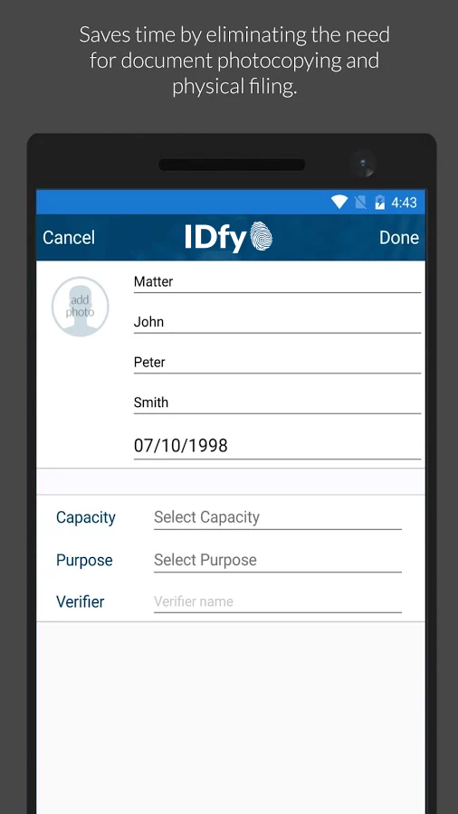 IDfy- screenshot