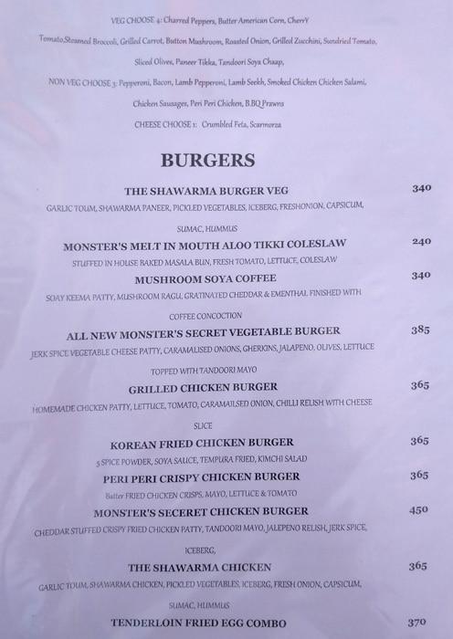 Monster's Cafe menu 7