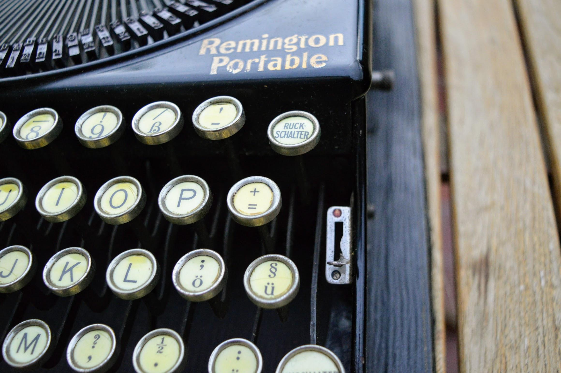 Remington Portable - Farbbandumschalter rot/schwarz