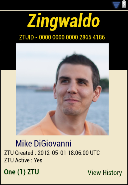 Photo: ZTU # 1 for Mike DiGiovanni