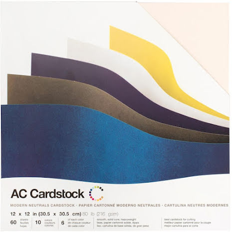 American Crafts Smooth Cardstock Pack 12X12 60/Pkg - Modern Neutral