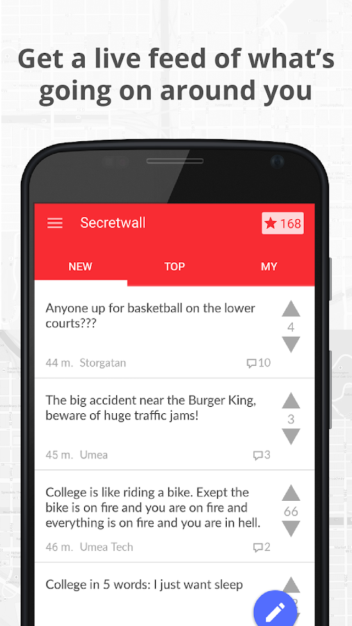 Secretwall - Posts nearby!- screenshot