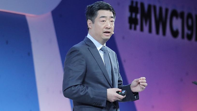 Huawei's deputy chairman Ken Hu at MWC2019.