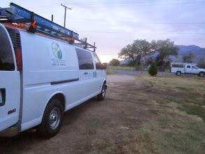 Photo: Morning arrival at Mr. Orihuela's house (6:00am early install start).