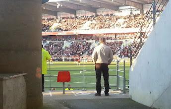 Photo: En passant par le Moustoir (stade en plein centre-ville de Lorient), le match Lorient-St-Etienne.