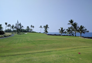 Photo: Kona Country Club. There were a couple holes on the ocean, but by and large, the course was rather boring to play.