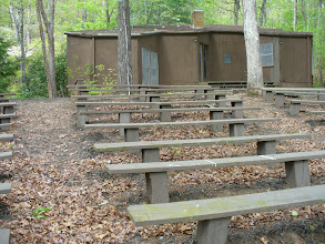 Photo: View of Ampitheatre facing towards Hodgson Nature Center, a great resource for anyone interested in flowers, trees, wildlife and all kinds of nature found at Camp Toccoa
