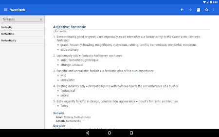 Dictionary - WordWeb 3.2 screenshot 222890