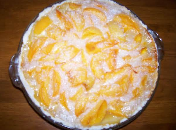 Peach And Tapioca Pie With Mix In Pie Plate Crust