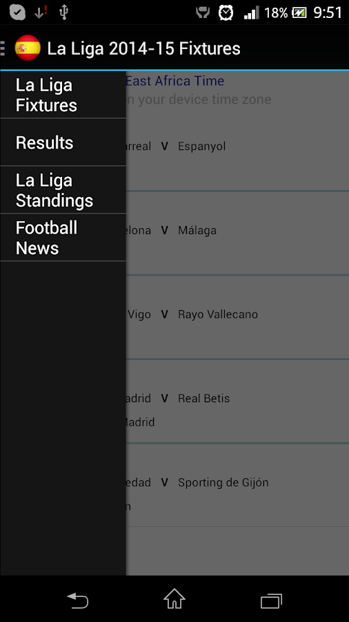 La liga 2015 16 fixtures android apps on google play - La liga latest results and table ...
