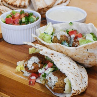 Falafel with Israeli Salad.