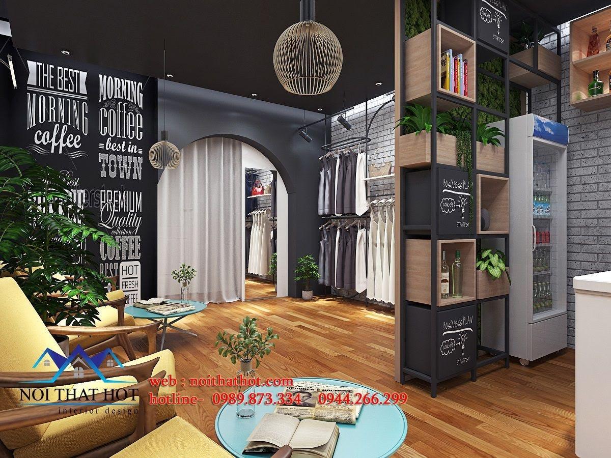 thiết kế quán cafe kết hợp shop thời trang 10
