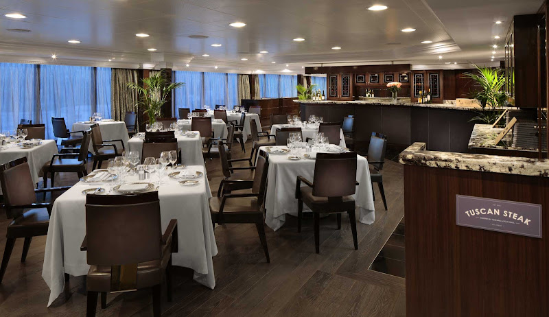 Tuscan Steak, the all-new specialty restaurant on Oceania's Sirena, offers an innovative, diverse menu.
