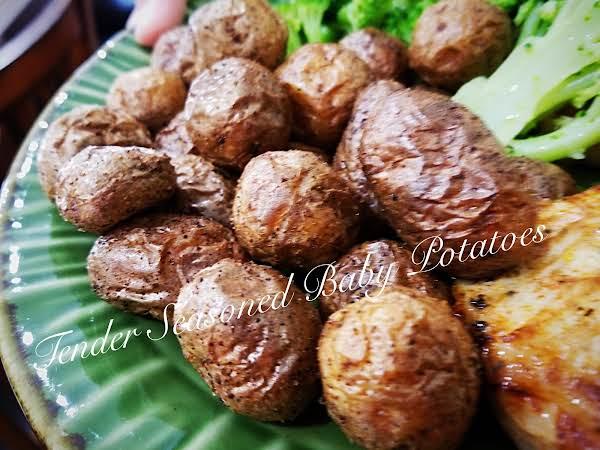~ Tender Seasoned Air-fried Baby Potatoes ~
