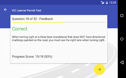 VIC Learner Permit Test- screenshot thumbnail