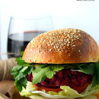 Smashed Beet & Bean Burger