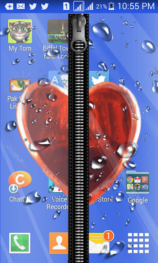 HeartZipper Fake Screen Lock