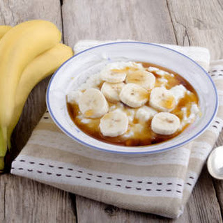 Bananas Foster Rice Pudding.