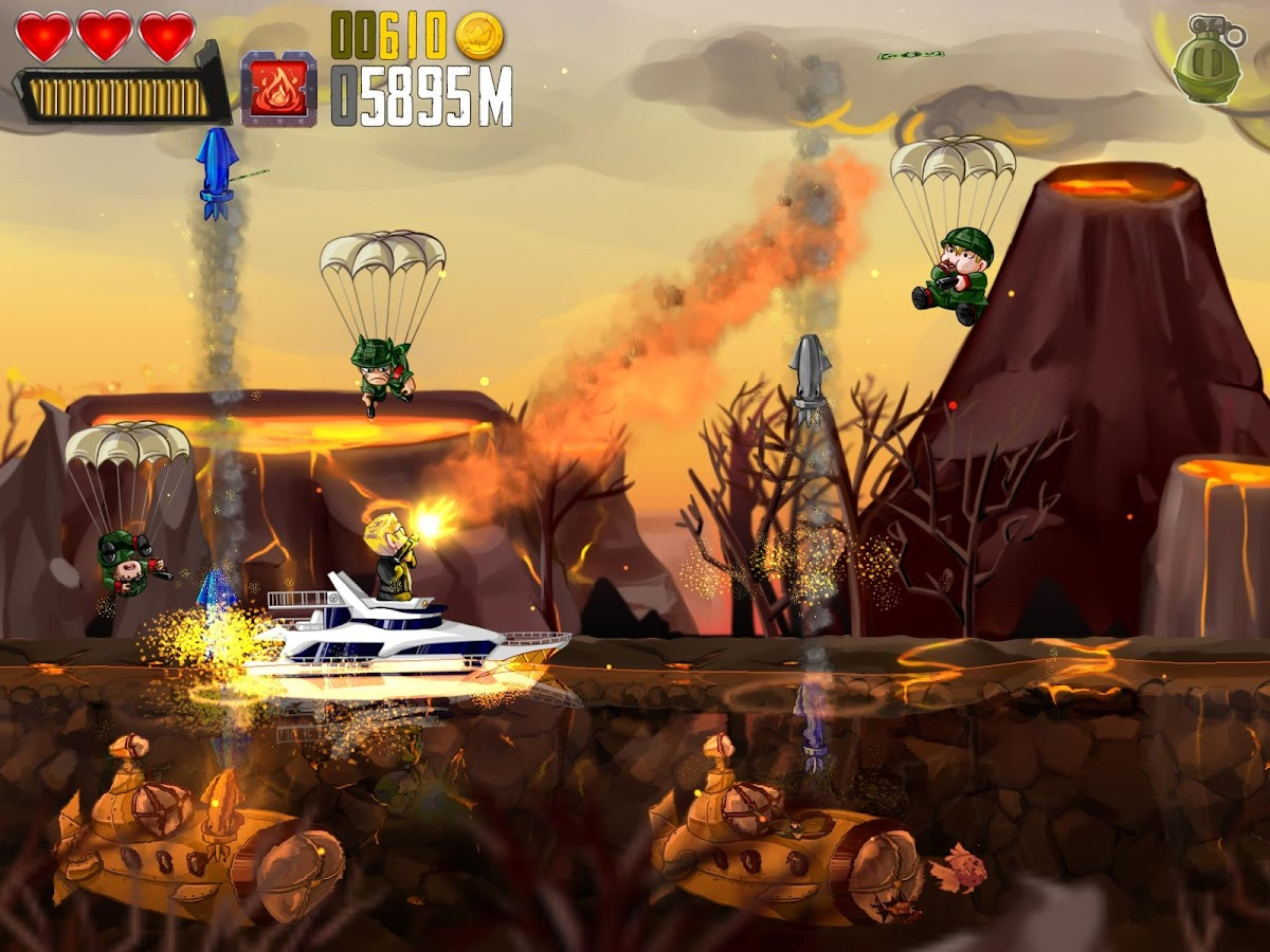 Ramboat: Shoot and Dash- screenshot