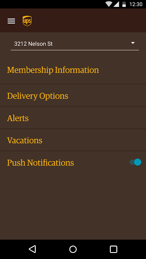UPS Mobile- screenshot