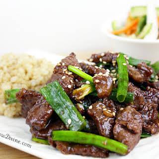 Healthier Mongolian Beef.