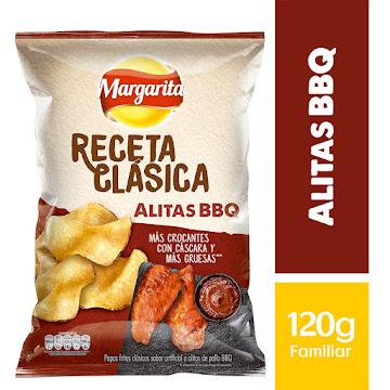 PASABOCAS MARGARITA   PAPAS FRITAS ALITAS BBQ RECETA CLÁSICA X120G