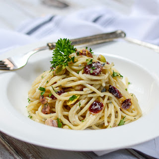 Gorgonzola Pasta with Cranberries & Pistachios