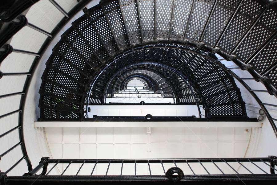 St. Augustine lighthouse stairs by Dawn Ayala - Abstract Patterns