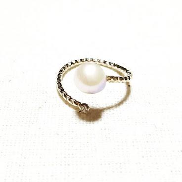 【最後一件: Japanese Akoya Pearls on Brass Ring 】