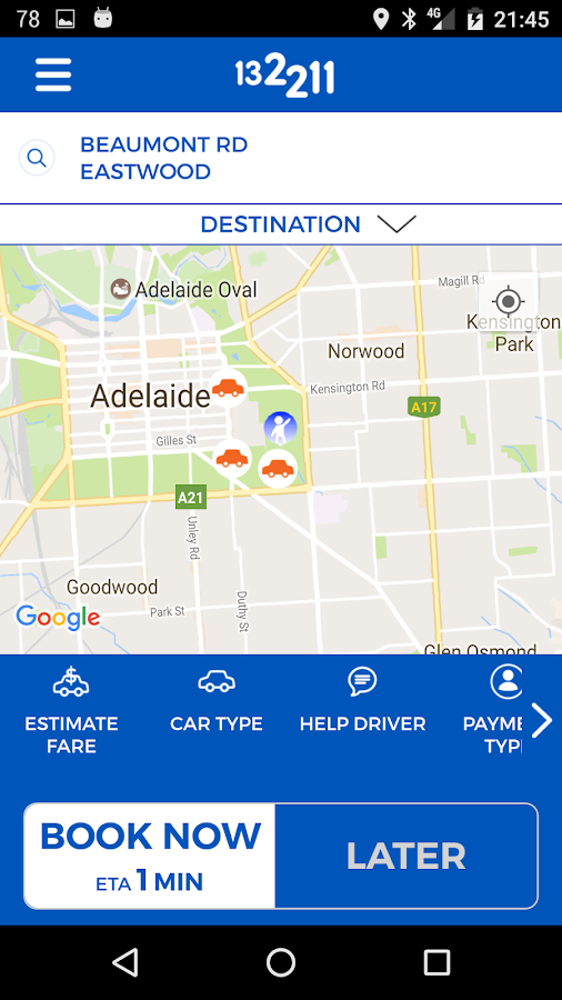Adelaide Independent Taxis- screenshot