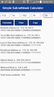 Simple SubnetMask&Advanced VLSM Calculator for PC / Windows