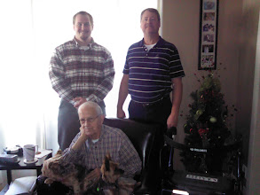 Photo: Director of Vetaran Affairs and Assistant with WWII vet